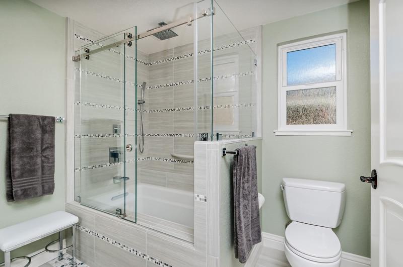 Silvery Gray Master Bath