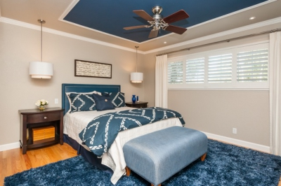 Fremont Navy Blue Master Bedroom