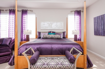 Fremont Purple Master Bedroom