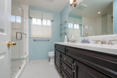 Fremont-Restful-Blue-and-White-Hall-Bath