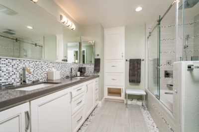 Fremont Silver and Gray Master Bath