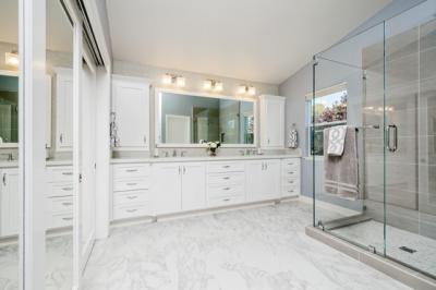 Union City Beautiful White Master Bath