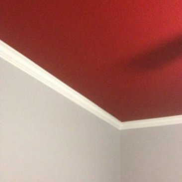 Ceiling painted red.