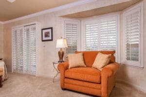 Plantation shutters provide privacy and light control, and are a timeless look for any room.