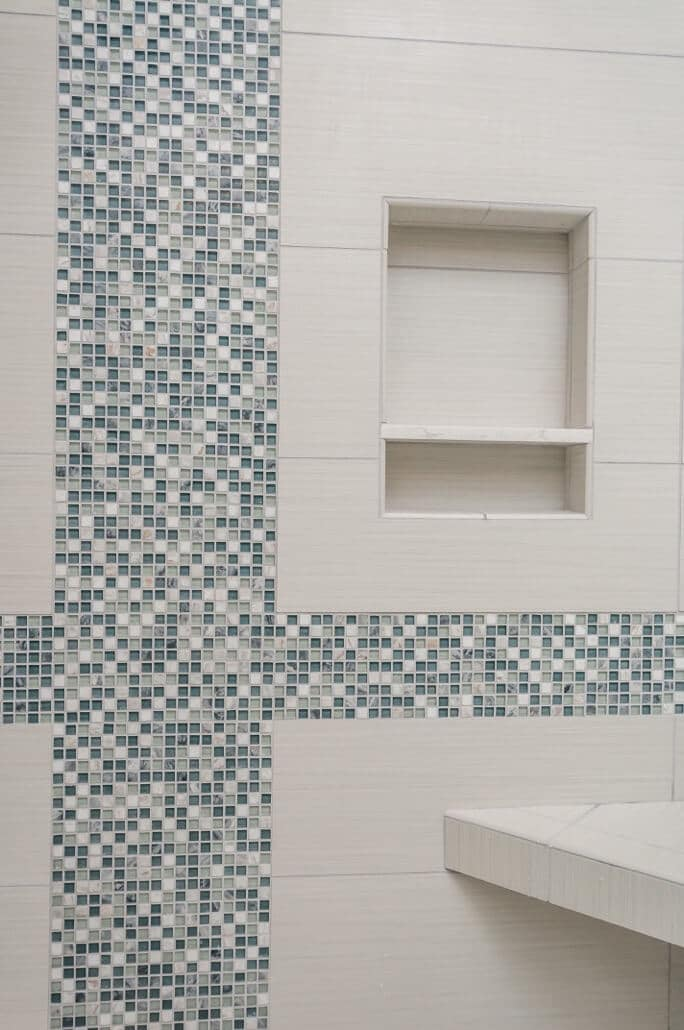 Creative ways to use glass tile in your bath