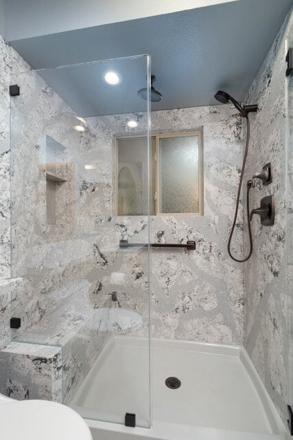 Stylish, Yet Easy-to-Maintain Showers